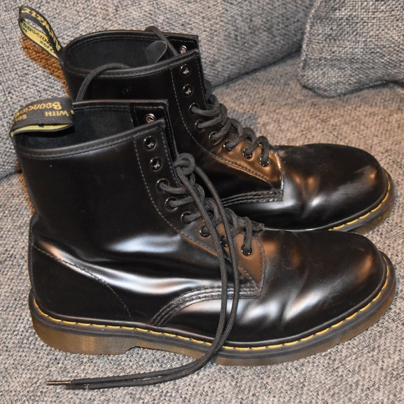 b47f9a93ebf0 Dr. Martens Other - Doc Martens 8-hole Boots Black Leather Size 10